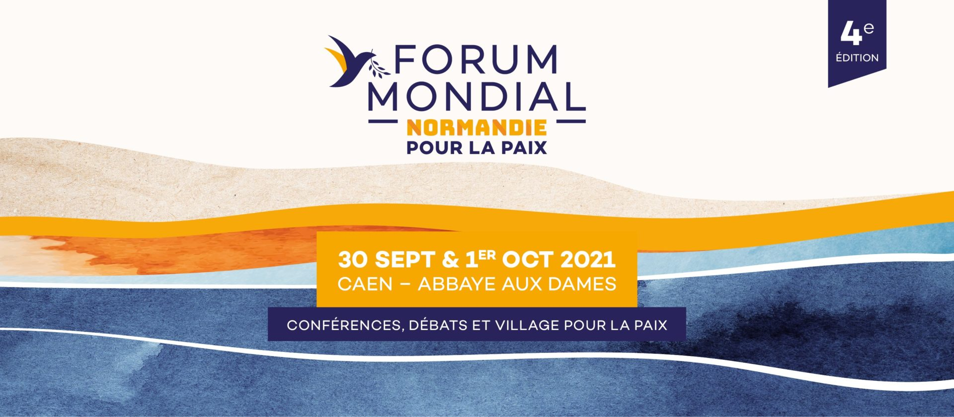 Normandy World Peace Forum : 30 September and 1 October in Caen